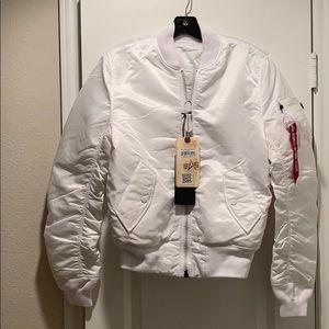 Alpha Industries MA-1 Slim Fit Pilot Jacket White